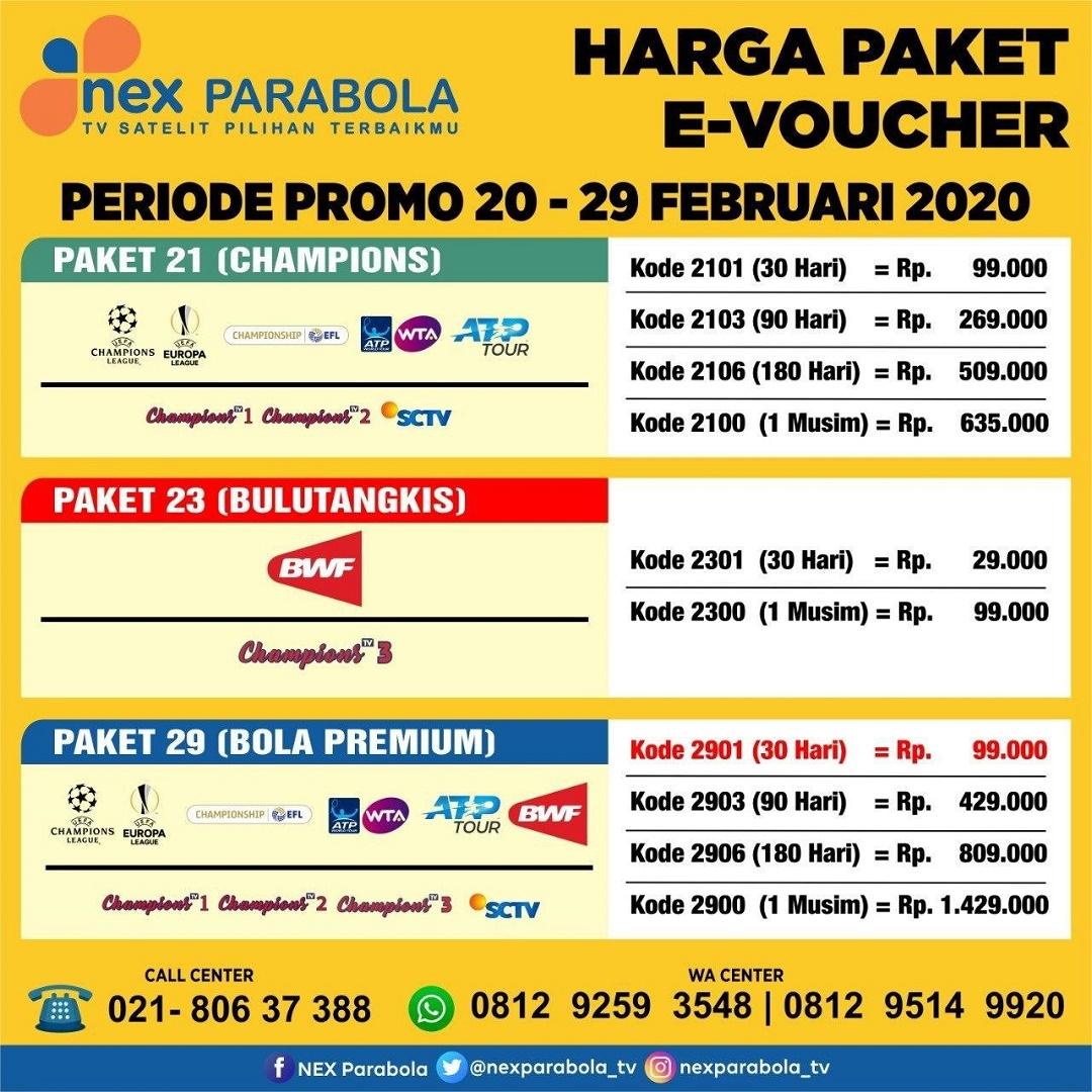 Kode Paket Nex Parabola