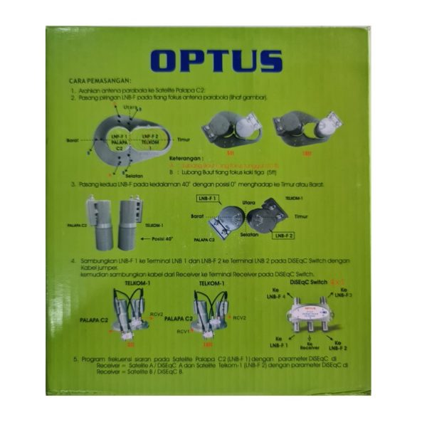 Optus 2 Satelit 2 Receiver C Band