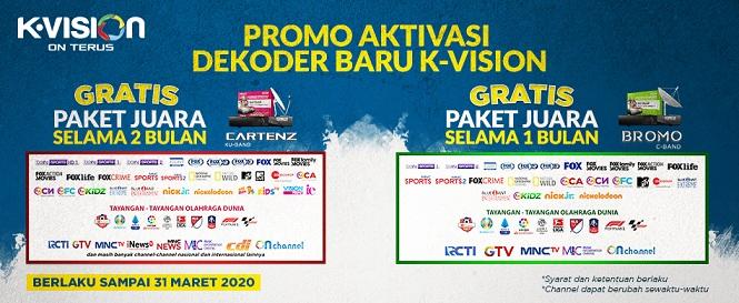 Promo Aktivasi Baru K Vision