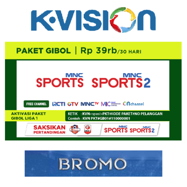 Paket Gibol Liga 1 K Vision C Band