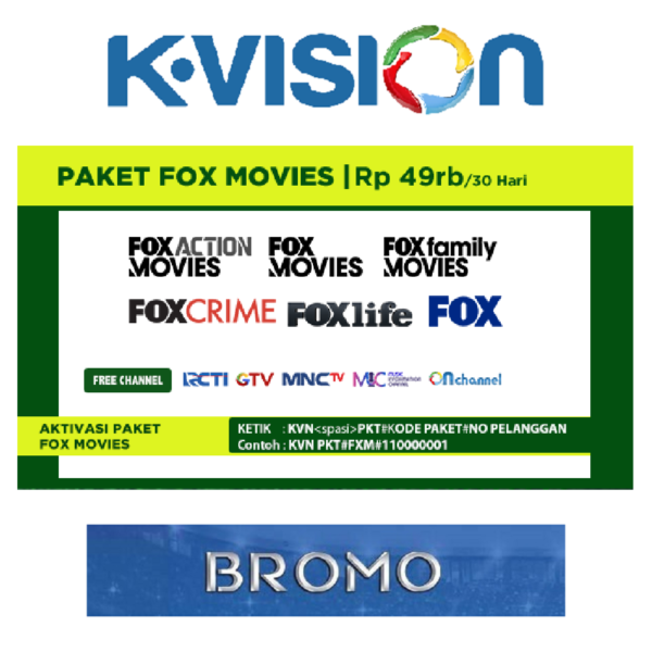 Paket Fox Movies K Vision C Band