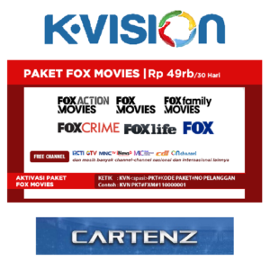 Paket Fox Movies K Vision Ku Band