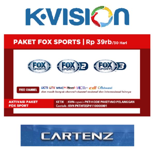 Paket Fox Sports K Vision Ku Band