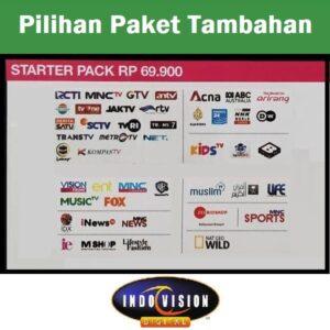 Paket Starter Pack Indovision